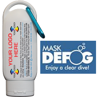 2 fl oz. Mask Defog Sport Bottle with Carabiner WITH IMPRINT